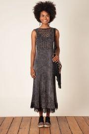 vestido longo cropped