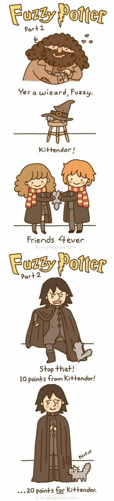 Funny pictures about Fuzzy Potter. Oh, and cool pics about Fuzzy Potter. Also, Fuzzy Potter. Saga Harry Potter, Harry Potter Love, Harry Potter Memes, Pusheen Harry Potter, Ravenclaw, Hufflepuff Pride, Hogwarts, Jm Barrie, No Muggles