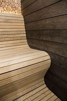 Tehtud saunad - Saunapoint - Sauna ehitus Sauna Design, Sauna Room, Garage Gym, Saunas, Beautiful Wall, Master Bath, Outdoor Gardens, Wall Decor, Cottage