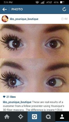 Younique 3d lash mascara! Looks like falsies.  Comment below to get yours today.