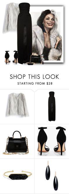 """Cruella de Vil-101 Dalmations"" by majezy ❤ liked on Polyvore featuring Chicwish, Disney, Yves Saint Laurent, Dolce&Gabbana, Boohoo, BaubleBar and Janis Savitt"