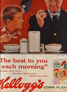 Based on their expressions, this must be the best cereal ever! Retro Ads, Vintage Advertisements, Vintage Ads, Vintage Posters, Book And Magazine, Magazine Ads, Retro Recipes, Vintage Recipes, Best Cereal