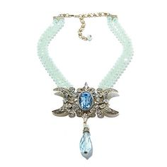 "Shop Heidi Daus ""To the Moon, Heidi!"" Beaded 2-Row Crystal Drop Necklace at HSN mobile"