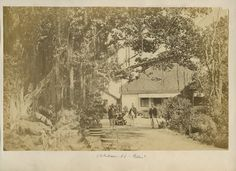 A British Administrators Bungalow Probably In Poona Photo From The 1870s