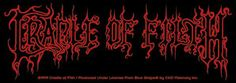 Cradle of Filth Logo Sticker for $3.00  http://www.jsrdirect.com/merch/cradle-of-filth/logo-sticker-6-x-2  #cradleoffilth #sticker #metalstickers #metalmerch