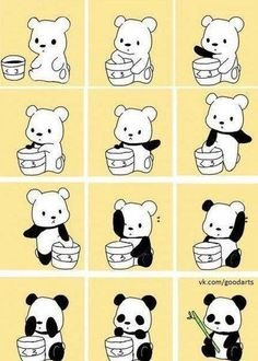 ... and that is how pandas came to be. I Love this