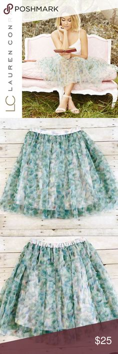 LC Lauren Conrad Cinderella Tulle Skirt ✔️LC Lauren Conrad Tulle Cinderella Skirt ✔️2 Layers of Watercolor Tulle ✔️Pink Lining ✔️Elastic Back ✔️100% Polyester ✔️Excellent Used Condition LC Lauren Conrad Skirts
