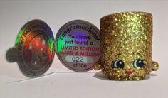 SHOPKINS-MARSHA-MALLOW-Limited-Edition-Season-2-golden-gold-22-of-100-NEW-Rare $1517