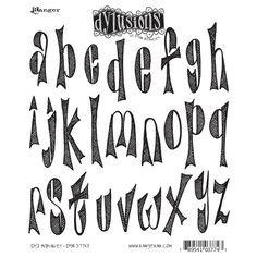 Dyan Reaveley's Dylusions Cling Stamp Collection-Dy's Alphabet | SongbirdCrafts - Scrapbooking on ArtFire