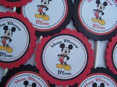 mickey mouse cupcake toppers idea