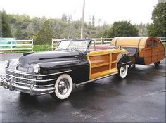 1947 Chrysler Town and Country Convertible Woody with Trailer via Car and Classic goo.glC47ek