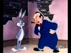 """Edward G. Robinson and Peter Lorre make cameos in this 1946 Bugs Bunny cartoon, """"Racketeer Rabbit. Looney Tunes Characters, Classic Cartoon Characters, Looney Tunes Cartoons, Old Cartoons, Classic Cartoons, Animated Cartoons, Funny Cartoons, Famous Cartoons, Cartoon Clip"""