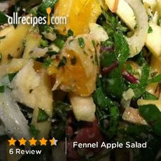 Fennel Apple Salad from Allrecipes.com #myplate #fruits #veggies