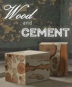 15 Easy DIY Cement and Concrete Projects - Cement Art, Concrete Cement, Concrete Furniture, Concrete Crafts, Concrete Projects, Wood Crafts, Diy Projects, Project Ideas, Furniture Projects