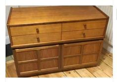 Nathan furniture (parker #knoll ) #retro teak small side #board 70's,  View more on the LINK: http://www.zeppy.io/product/gb/2/182355915146/