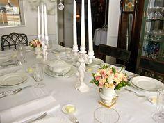 beautiful table - the china is Haviland Ranson