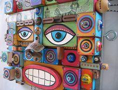 Journeyman, Original Found Object Assemblage, Wall Art, by Fig Jam Studio