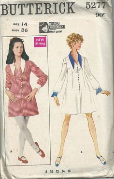 Mary Quant Long-Sleeved Mini Dress - Butterick Pattern No.5277 - 1960s