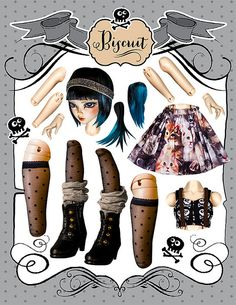Biscuit Paper Doll Layout   by RikkiStar