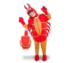 DisfracesMimo, disfraz de cangrejo para niño varias tallas. Ideal para imitar a Don Cangrejo, el avaro jefe del Crustáceo Crujiente, de los dibujos de Bob Esponja y comerte una cangreburge. Perfecto para carnaval o en teatros y fiestas de fin de curso. Este disfraz es ideal para tus fiestas temáticas de disfraces de animales niños.