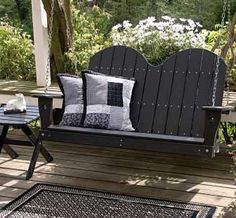 black porch swing :) spring project