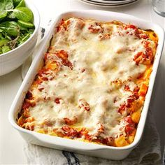 Butternut & Portobello Lasagna Recipe- Recipes Lasagna gets fresh flavor and color when you make it with roasted butternut squash, portobello mushrooms, basil and spinach. We feast on this. —Edward and Danielle Walker, Traverse City, MI