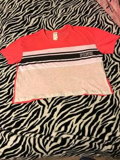 4b3640f6a59 My Victoria s Secret Pink cropped shirt by Victoria s Secret. Size L   10  for