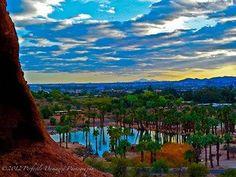 Papago Park looking towards Phoenix Zoo