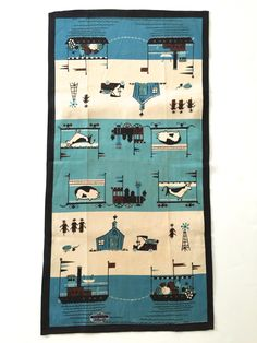 This charming towel is a tough one to find, but here it is in excellent condition and ready to grace your retro kitchen!  Measures 30.5 x 15.5 - retains the original Prints Charming all linen hand printed sticker. One spot on the cow (see last photo).  Please take advantage of my SHOP SPECIAL - buy 2 or more towels and US shipping is free (I will reimburse you after purchase):  http://www.etsy.com/shop/NeatoKeen?section_id=6537179.  Thank you for looking at my NEATOKEEN stuff