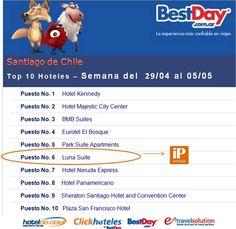 iP Hoteles - Top 10 Semana 29 de Abril al 05 de Mayo Best Day Travel HOTELDO - Luna Suite