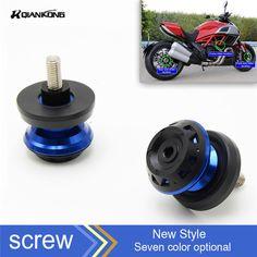 6MM Screws CNC Aluminum Motorcycle Swingarm Spools Slider For Yamaha YZF R3 YAF-R3 R6 R25 MT07 MT09 Kawasaki Z800 Z1000 Z750 KTM