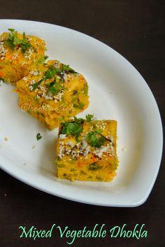 Mixed Vegetable Dhokla