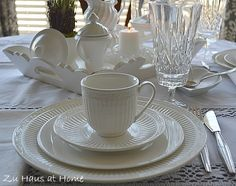 This is my everyday china except that I use the square plates.  Italian Countryside by Mikasa