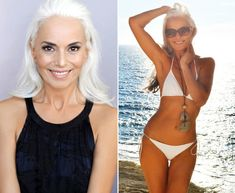 Sexy reveals her biggest age-defying diet and fitness secrets Sexy Older Women, Old Women, Yasmina Rossi, 60 Year Old Woman, Looks Kylie Jenner, Beautiful Old Woman, Older Models, Ageless Beauty, Foto Art