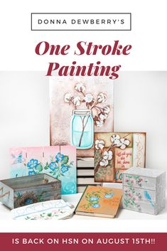Watch Donna Dewberry, the original creator of the FolkArt One Stroke method of painting, on Aug 15th for some amazing kits! Click to go to HSN!