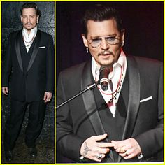 Johnny Depp Hits The Stage At Hollywood Beauty Awards 2016!