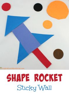 Shape Rocket Sticky Wall - such a fun and easy to prep activity!