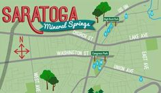 Saratoga Mineral Springs Map :  Check out the tasting tour map for the 17 public mineral springs in Saratoga Springs!