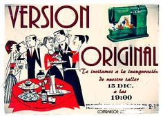 Invitación para la inauguración del taller VERSION ORIGINAL