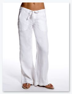 womens linen clothing  | :: Women's Apparel :: Pants & Trousers :: Anais casual linen pants ...