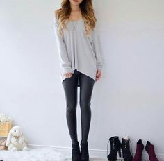 55 Pretty Winter Outfits Design That Still Trend In This Year # Teen Fashion Outfits, Fashion Mode, Cute Fashion, Outfits For Teens, Trendy Outfits, Winter Outfits, Tumblr Outfits, Mode Outfits, Mode Cool