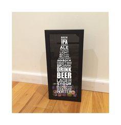 Styles of Beer Typography Design Bottle Cap by DecalPhanatics