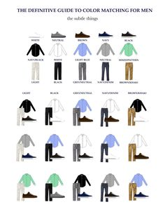 Color Matching for the Modern Man - the subtle things