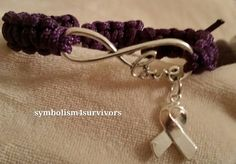 Paracord adjustable awareness bracelet