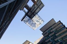 nouvel -The installtion of the reflective panels onto the heliostate is underway— atCentral Park Sydney.