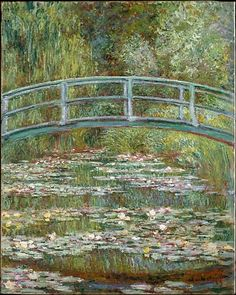 A Bridge over a Pond of Water Lilies by Claude Monet