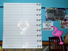 DIY Mugshot Photobooth backdrop. Just taped posterboards?