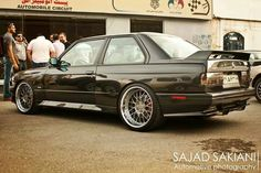 BMW E30 M3 black - S54 supercharged with ISS wheels