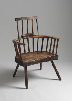 Sculptural Primitive Windsor Armchair, from Pembrokeshire. (British and European Country Furniture and Folk Art at Robert Young Antiques) #BritishFolkArt