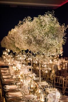 "Baby's Breath ""Cloud"" Centerpieces"